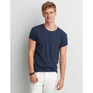 AEO Short Sleeve Crew T-Shirt, Blue Breeze | American Eagle Outfitters