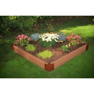 Frame It All Two Inch Series 4 ft. x 4 ft. x 5.5 in. Composite Raised Garden Bed Kit-300001080 - The Home Depot