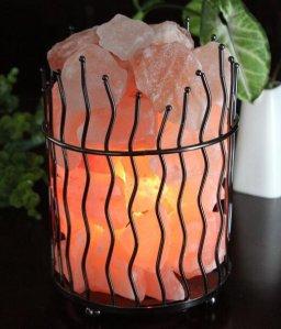 $17.99(reg.$49.95) WBM Himalayan Glow Natural Air Purifying Himalayan Pillar Style Basket salt lamp