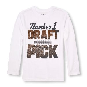 Boys Long Sleeve 'Number 1 Draft Pick' Graphic Tee | The Children's Place