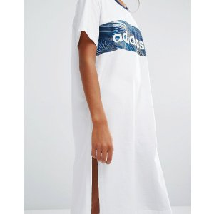 adidas Originals Geology Print Block T-Shirt Dress