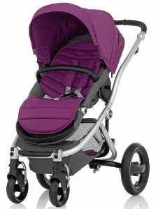 Britax Affinity Stroller, Silver - Cool Berry