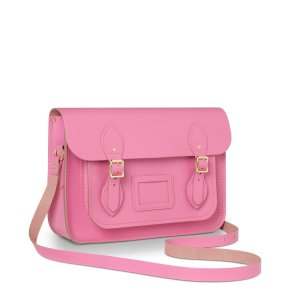 Classic Pink 13 inch Satchel with Magnetic Closure | Cambridge Satchel