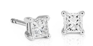 Dealmoon Exclusive: 44% OffDiamond Princess Stud Earrings in 18kt White Gold (5/8 ct. tw.)