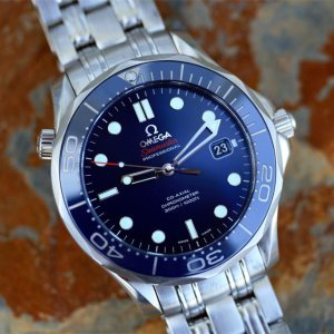 $2695Omega Seamaster Automatic Blue Dial Men's Watch