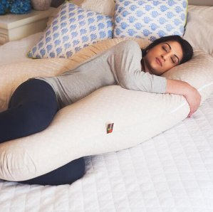 Leachco- All Nighter Total Body Pregnancy Pillow, Ivory
