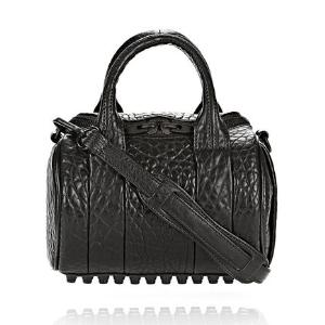 MINI ROCKIE IN PEBBLED BLACK WITH MATTE BLACK | Shoulder Bag | Alexander Wang Official Site