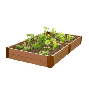 Frame It All Two Inch Series 4 ft. x 8 ft. x 11 in. Composite Raised Garden Bed Kit-300001091 - The Home Depot