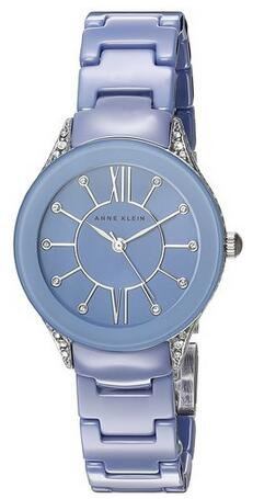 $10 Off $100 Anne Klein Women's Quartz Metal and Ceramic Dress Watch  AK/2389LBSV