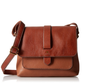 $102.4(reg.$128) Fossil Kinley Small BRWN Cross-Body Bag,Brown