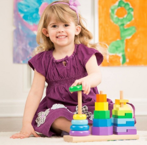Melissa & Doug Geometric Stacker @ Amazon