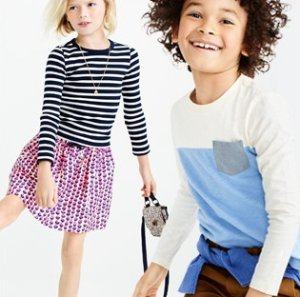 Extra 50% off + Free shipping Kid's Clothing Clearence @ J.Crew Factory