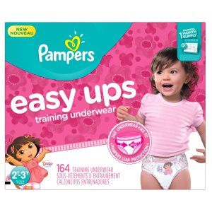 $22.13Pampers Girls Easy Ups Training Underwear, 2T-3T (Size 4), 164 Count