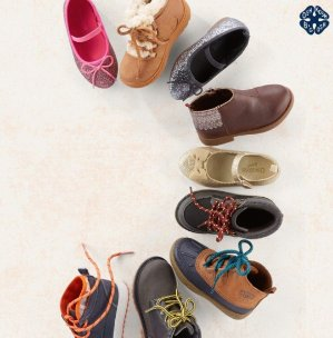 Ends Tonight!Up to $15 Kids Shoes & Boots Doorbuster @ OshKosh BGosh