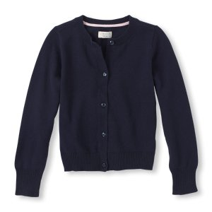 Girls Button-Front Crew-Neck Cardigan | The Children's Place