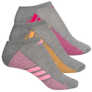 adidas outdoor Cushioned No-Show Socks (For Big Girls) - Save 58%