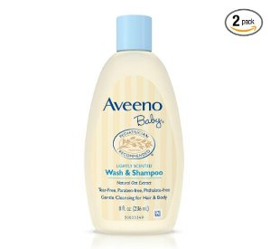 $5.21 Aveeno Baby Wash & Shampoo, Lightly Scented, 8 Ounce (Pack of 2)