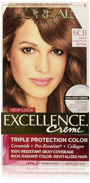 $1.90 + Free Shipping L'Oreal Paris Excellence Creme, 6CB Light Chestnut Brown, (Packaging May Vary)