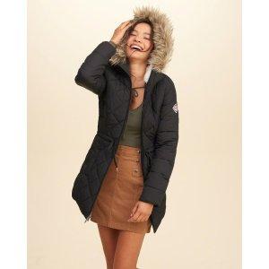 Girls Nylon Puffer Parka | Girls Jackets & Outerwear | HollisterCo.com
