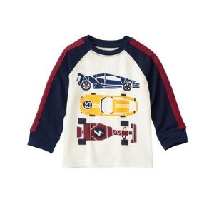 Toddler Boys Ivory Race Car Tee by Gymboree