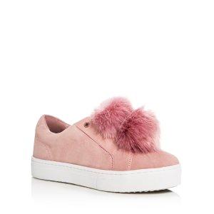 Sam Edelman Leya Faux Fur Pom-Pom Slip On Sneakers | Bloomingdale's