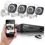$109.99仅限今天!史低!Zmodo SPoE 4摄像头室内/外监控系统