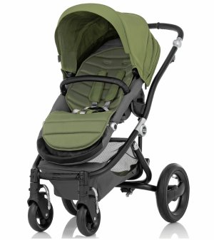 Britax Affinity Stroller, Black - Cactus Green