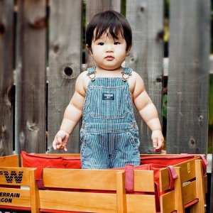 Up to 70% Off + 30% off $70+! Free Shipping with Baby Clothes All-American Baby World's Best Overalls Sale @ OshKosh.com