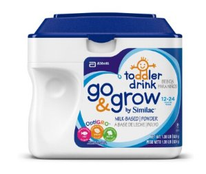 $94.08 Go & Grow by Similac, Stage 3 Milk Based Toddler Drink, Powder, 1.38 LBS (Pack of 6)