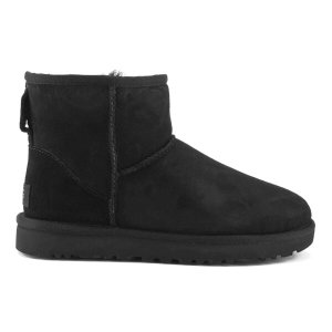 UGG Women's Classic Mini II Sheepskin Boots - Black - Free UK Delivery over £50