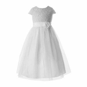 Keepsake Sleeveless Sparkle Lace Bodice Tulle Skirt-- Big Kid - JCPenney
