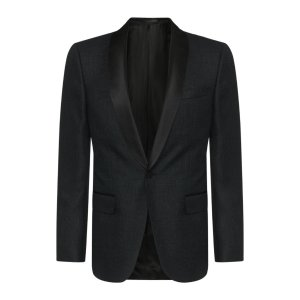 'Hockley' | Slim Fit, Italian Virgin Wool Blend Metallic Dinner Jacket