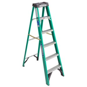 6 ft. Fiberglass Step Ladder with 225 lb. Load Capacity Type I Duty Rating