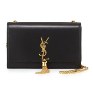Saint Laurent Small Tassel-Detail Flap Shoulder Bag, Black
