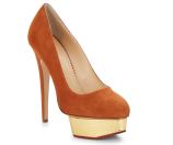Charlotte Olympia - Dolly Suede & Embossed Metallic Leather Platform Pumps - saksoff5th.com