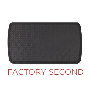 Factory Second : GelPro Elite Mat : Basketweave Black : 20x72