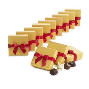 Assorted Chocolate Gold Favor, Red Ribbon | GODIVA