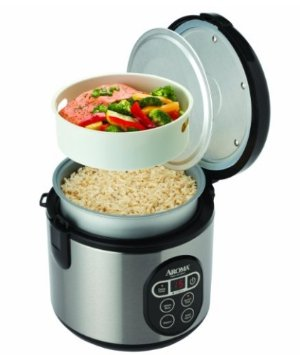 $24.9 Aroma Housewares ARC-914SBD 8-Cup (Cooked) Digital Cool-Touch Rice Cooker and Food Steamer