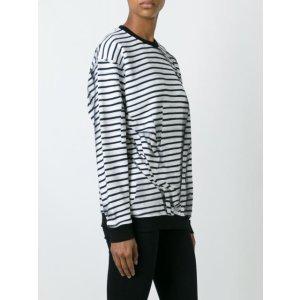 Mcq Alexander Mcqueen 'swallow' Striped Sweatshirt - Eraldo - Farfetch.com