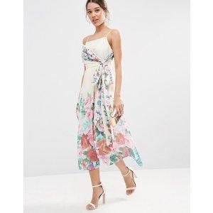 ASOS   ASOS Multiway Debutante Midi Prom Dress In Floral