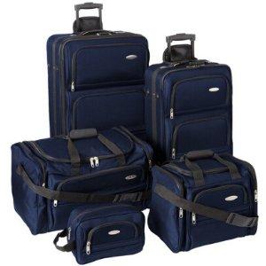 BuyDig.com - Samsonite 5 Piece Nested Luggage Set (Navy)