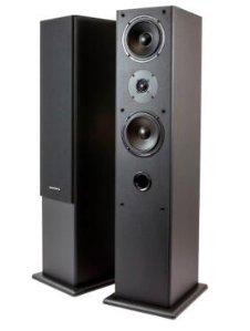 Premium Dual 5.25 Inch 2-Way Tower Speakers (Pair) - Black Finish
