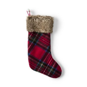 Knit Plaid Stocking from Lands' End