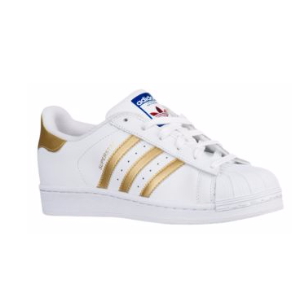 adidas Originals Superstar - Women's - Basketball - Shoes - White/Gold Metallic