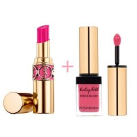 $61.6 ROUGE VOLUPTÉ SHINE OIL-IN-STICK + BABY DOLL KISS AND BLUSH @ YSL Beauty