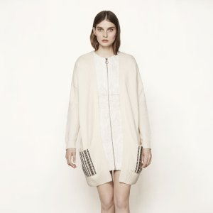 MAITRE Knitted cardigan with studs - Cardigans - Maje.com