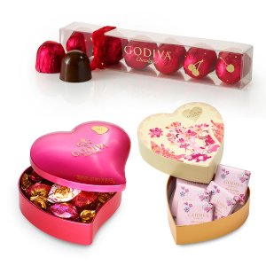 Valentine's Day Chocolate Novelties Gift Set with Collectors' Edition Heart Tin | GODIVA