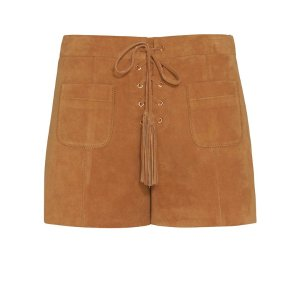 Exclusive for Intermix Sydney Lace-Up Suede Shorts | Shop IntermixOnline.com
