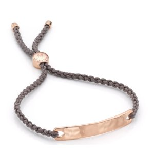 Rose Gold Havana Friendship Bracelet- Mink for Grace | Monica Vinader