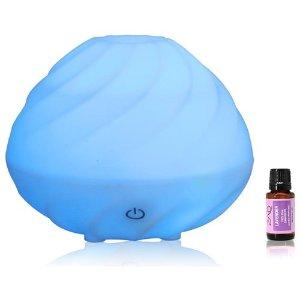 ZAQ 240ml Swirl Essential Oil Diffuser Aromatherapy + Free 10ML Lavender Oil